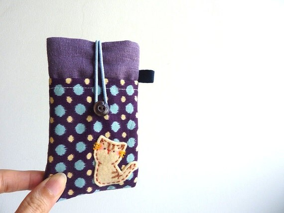 Cat iPhone Case, iphone sleeve, cat mobile case
