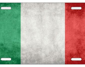 Italian Flag License Plate - Italy