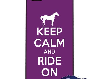 Keep Calm and Ride On, Purple - iPhone Cover, Case