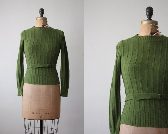 RESERVED. 1950's belted garland sweater