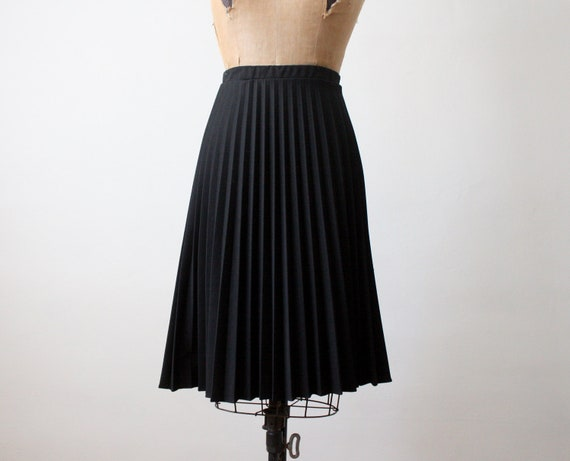 1970 s black accordion pleated skirt by 1919vintage on etsy
