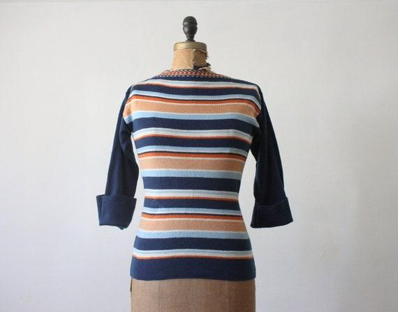 1970's stripe knit sweater