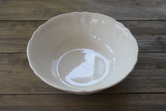Vintage Shabby Chic Ironstone Open Vegetable Bowl Made in England by Alfred Meakin