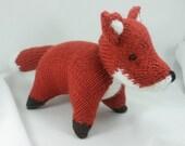 Fox , knitted fox, softie, plush, amigurumi