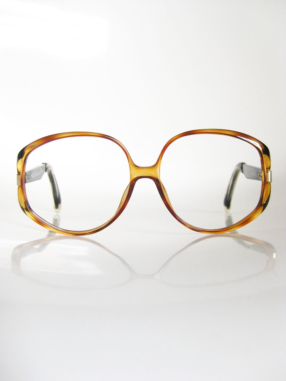 Vintage CHRISTIAN DIOR Amber Glasses Eyeglasses OVERSIZED