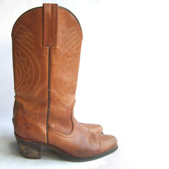 Womens Vintage Frye Cowgirl Boots Size 8.5