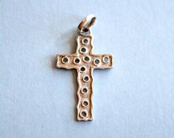 sale Vintage //// Sterling Silver Crucifix Pendant