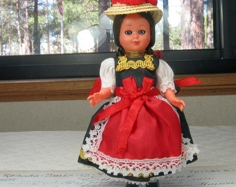 Vintage Doll Collectible German or Scandinavian Ethnic Costume