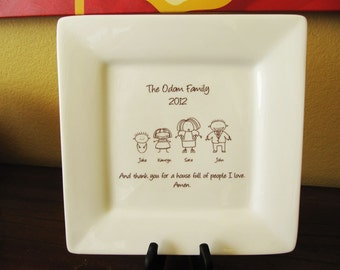 Custom Platter Personalized Platter with Your Family Members