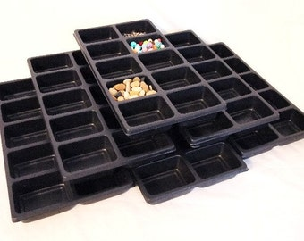 Lot Of 6 10 Slot Multipurpose Bead Sorting Trays Great For All Your Sorting And Storage Needs  SALE