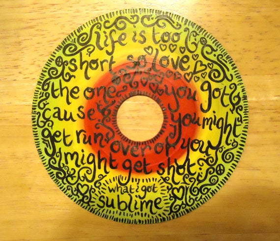 Sublime Quotes About Life: What I Got Sublime Painted Vinyl Record By Valderie On Etsy
