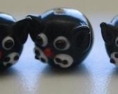 Cute Black Cat Glass Beads (5)