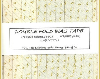 Double Fold Bias Tape - TINY TOTS SHIRTING From Henry Glass