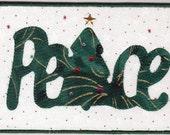 Peace Tree Fabric Postcard