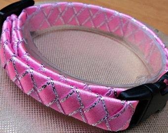 Small Cat Collar / Kitten Collar Pretty in Pink