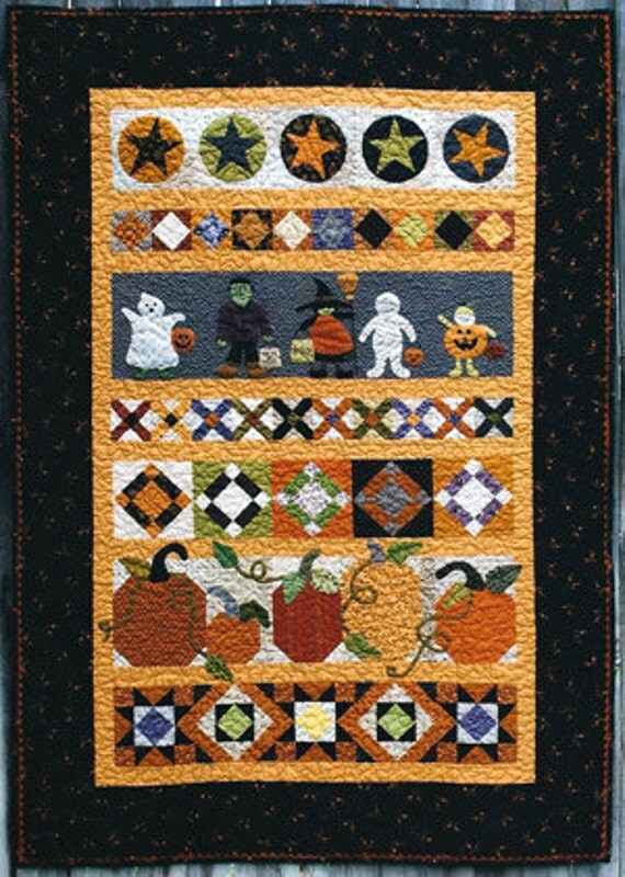 Trick Or Treat Row Quilt Pattern By Amy Mcclellan And Melanie