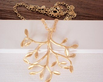 Branch Necklace, Leaf Necklace, Jewelry Sale, Gold Necklace,  Best Friend Birthday, Mother's Day Jewelry