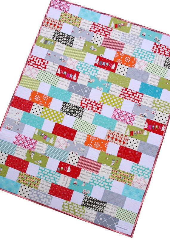 Christmas Baby and Toddler Quilt or Wall Hanging