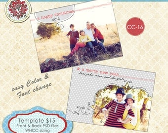 Christmas Photo Card Collection CC-16 ****Instant Download****