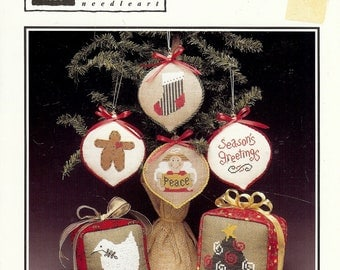 Holiday Trimmings II, Cross Stitch Christmas Patterns from Heart in Hand Needleart, 1997