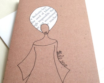 African American Greeting Card 'Word Afro'