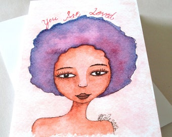 African American 'You Are Loved' Greeting Card