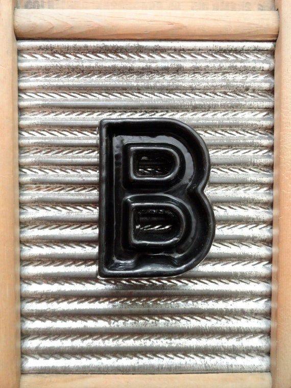 """Vintage Industrial Marquee Letter """"B"""" Movie Theater Black Plastic 4"""" Sign"""