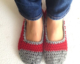 Crochet Slippers, Women Slippers, Wool Slippers, House Slippers, Ballet Slippers, Crochet Boots, House Shoes