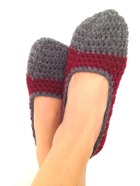 Items similar to burgundy maroon bordeaux wine grey crochet womens slippers ballet flats house - The splendid transformation of a vineyard in burgundy ...