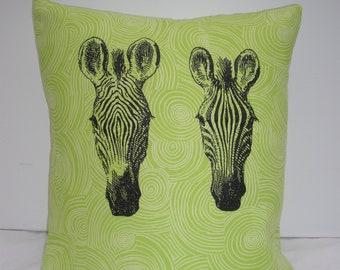 Face of a Zebra Cushion Cover