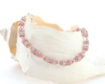 Swarovski Bracelet - Light Rose