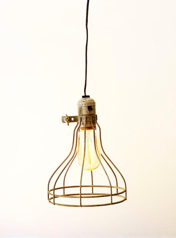 metal cage pendant lamp. Black Bedroom Furniture Sets. Home Design Ideas