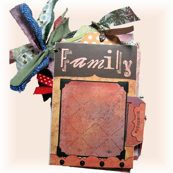 Family Tag Book, Mini Album, Personal Scrapbook and Gift