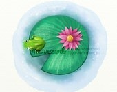 The shy frog - Signed print