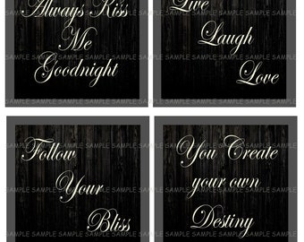 INSTANT DOWNLOAD...Inspirational Sayings.... 4 Inch Square Image Collage for Coasters...Buy 3 get 1