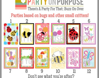 Bug Birthday Banner and Cupcake Toppers Fully Assembled Decorations