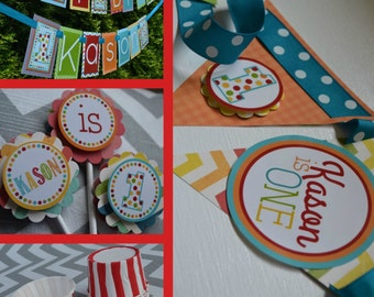 Polka Dot 1st Birthday Party Decorations Fully Assembled