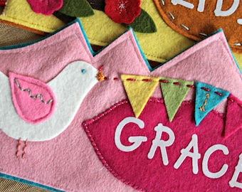 Birds and Banner Birthday Crown