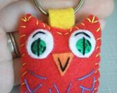 Baby Hoots Eco Felt Owl Plush Keychain Owl Charm Zipper Pull