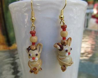 Hopping Bunny Earrings