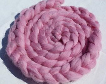 "Skinny Mini Newborn Braided Wool Bowl  ""Blush""      ---Ready To Ship---"