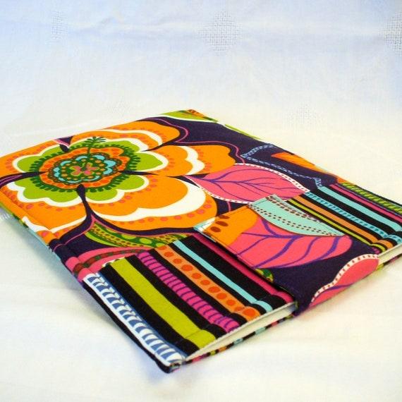 SALE Fabric iPad Sleeve iPad Cover iPad Case Padded Fabric Sleeve Bolero Alexander Henry Bright Colorful Floral l Ready to Ship