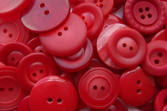 BULK - Buttons - RED - OVER 75
