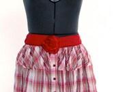 Plaid Restrutured Skirt