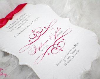 The Diva - Diecut Wedding Programs