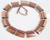 Rare Vintage RENOIR Copper Bold Modernist Beaded Necklace