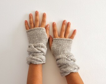 Fingerless Gloves Wrist Warmers Mittens Beige Gloves Warm Cozy Women Gloves Women Accessories Sand Neutral Earth Tones