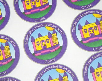 Bounce House Stickers. Bounce House Birthday.  Bounce Party. Custom Bounce House Stickers.
