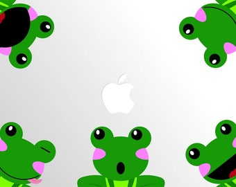 Laptop Frogs Decal