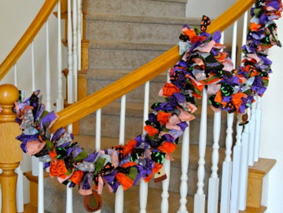 7 feet long Halloween Garland with ornaments,Halloween garland,fabric garland,Party Decoration,Garland for Halloween,Fun decoration